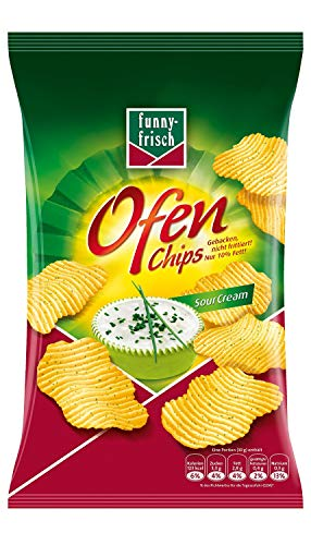 funny-frisch Ofen Chips Sour Cream 10er Pack (10 x 150 g) (Onion Cream Chips Sour)