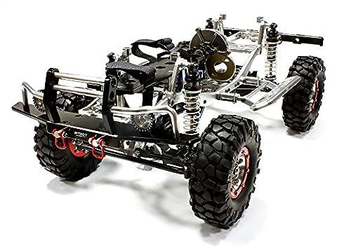 Integy RC Modélisme Hop-ups C24866SILVERT1 V2 Billet Usinée 1/10 Trail Roller 4WD Off-Road Scale Crawler ARTR
