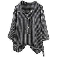 Preisvergleich für Cloom Frauen Tops Bluse Streifen Langarm Shirt Oversize Bluse Hemdbluse Damen Hemdkleid Shirtkleid Tee Lang T...
