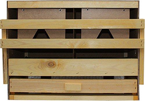 Legenest, Legenester, Abrollnest, Hühnernest, Nest, Einlegematten 2 Legebuchten (Oberteil) - 2