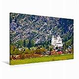 Leinwand Die Burg Mauterndorf 120x80cm, Special-Edition Wandbild, Bild auf Keilrahmen, Fertigbild auf hochwertigem Textil, Leinwanddruck, kein Poster