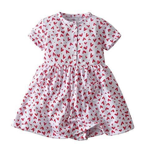 Big, Kinder, Mädchen, Rosa Trikot (iHAZA Baby KurzarmBlumenKleid Prinzessin StramplerKleider Kleider)