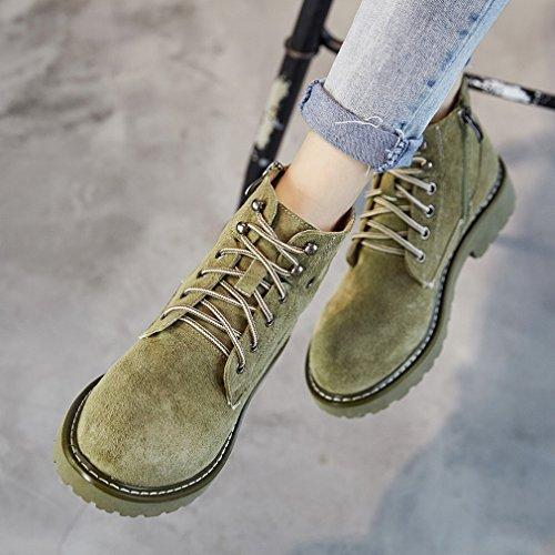ANI Martin Stivali Stivali da Moto Inglesi ad Alto Vento Scarpe Occidentali a Secco Verde