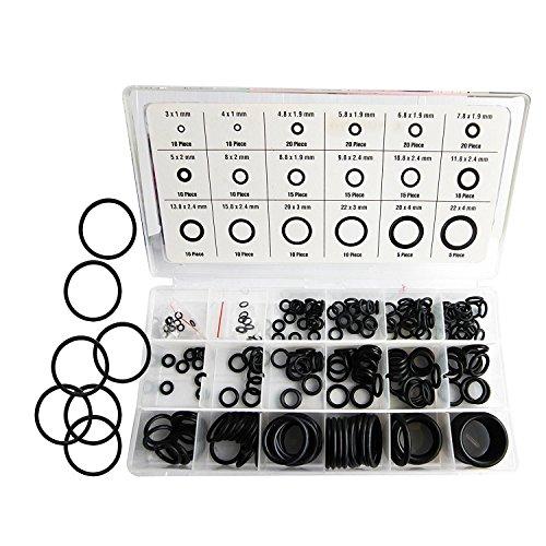 Lepik 225 Stück O-Ringe Sortiment Oringe Dichtungen aus NBR-Gummi -