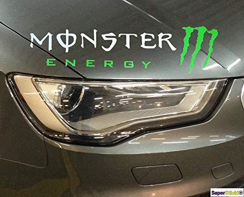 SUPERSTICKI® Monster Energy 20cm Aufkleber Sticker Decal aus Hochleistungsfolie Autoaufkleber Tuningaufkleber für alle glatten Flächen UV und Waschanlagenfest