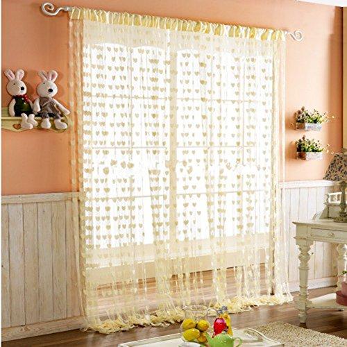 Tenda a fili in pannelli per porte, glitterata argentata cuore tenda moderna soggiorno 100 x 200 cm frange da muro tenda per finestra, zanzariera, divisorio di stanze, perfetto come schermo mosca (giallo)