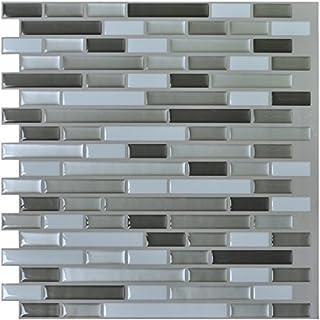 Art3d Peel and Stick Kitchen Backsplash Tile 12 x 11 Brick Design, Pack of 6 by Art3d