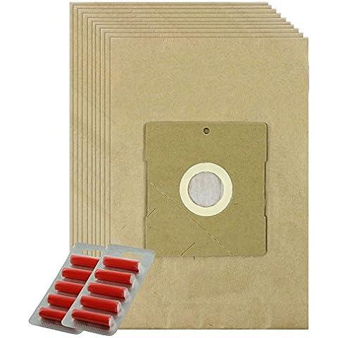SPARES2GO resistente bolsas de polvo para Shop Vac Aspen 74-1 para aspiradora (unidades 10 + 10 bola para)