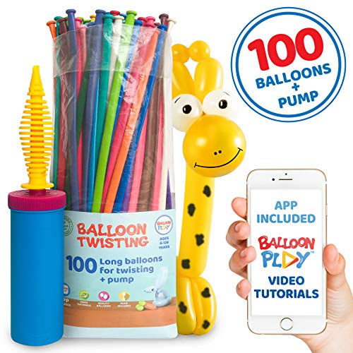 Balloon Modelling Animal Kit for beginners with 100 twisting balloons