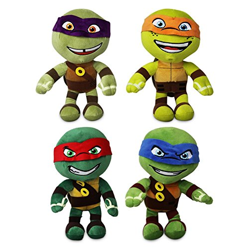 4 x Plüsch Schildkröte Ninja Turtle Leonardo Michelangelo -