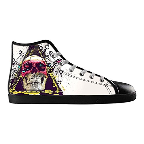 Dalliy Red Rose And Skull Men's Canvas shoes Schuhe Lace-up High-top Sneakers Segeltuchschuhe Leinwand-Schuh-Turnschuhe E