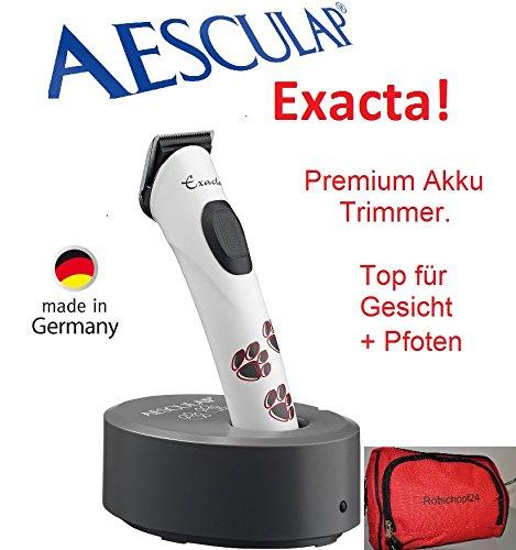 Rotschopf24Edition: Aesculap exacta Trimmer/Tosatrice per animali, senza fili (funzionamento a batteria), con custodia. 43528
