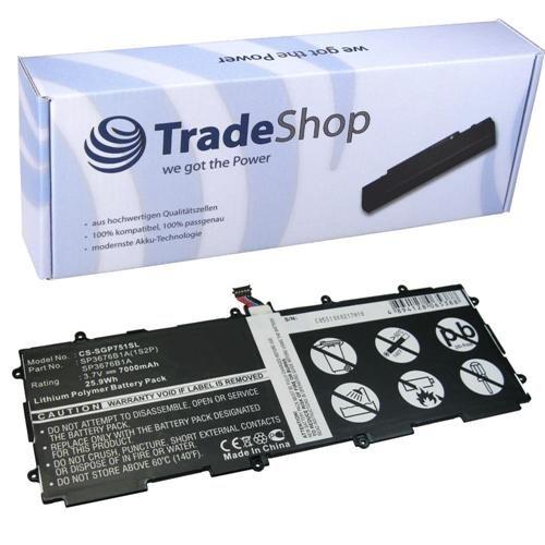 Hochleistungs Li-Polymer Akku 3,6V/3,7V/7000mAh ersetzt SP3676B1A, SP3676B1A(1S2P), SP-3676-B1A, SP-3676-B1A-1S2P für Samsung Galaxy Tab 2 10.1 P5100, P5110, P-5100, P-5110