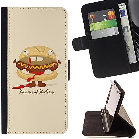 All Phone Most Case / Cellulare Smartphone cassa del cuoio della calotta di protezione di caso Custodia protettiva per HTC ONE X9 // Hot Dog Sandwich Junk Food Animation Art