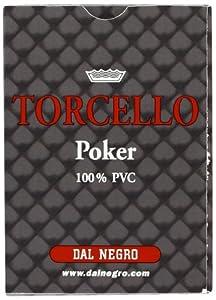 Dal Negro Torcello Poker Dal Negro-24101 Naipes plastico, Color Rojo (24101)