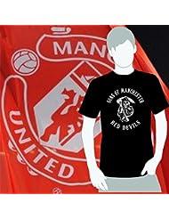 World of Football T-Shirt Sons of Manchester red devils schwarz - XXL