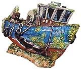 Zolux Aquariendeko Fischkutter Marie Aquarium Schiffswrack Schiff Aquariendekoration