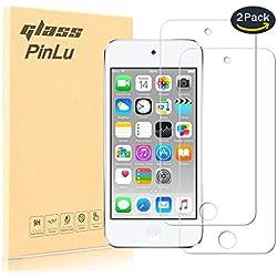 pinlu® [2 Pack] Film Protection en Verre trempé écran Protecteur Vitre Pour Apple iPod Touch 5 / iPod Touch 6 Glass Protector Haute transparence, Super Résistant, sans Bulles d'air [0.26mm/9H]