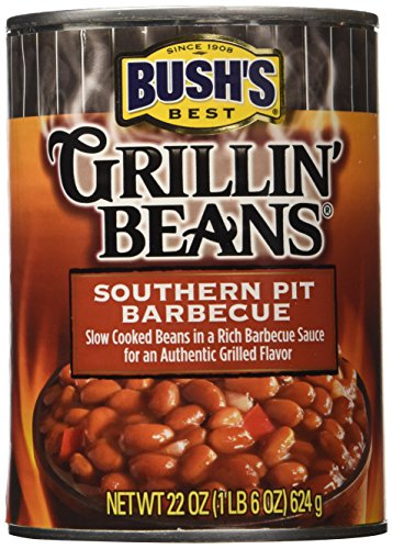 Bush\'s Best, Grillin\' Beans, Southern Pit Barbecue, 22oz. Can (Pack of 3)