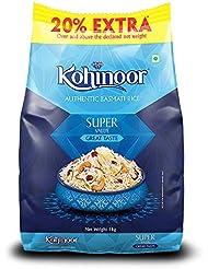 Kohinoor Super Value Authentic Basmati Rice, 1 Kg Pack (Get 20% Extra)