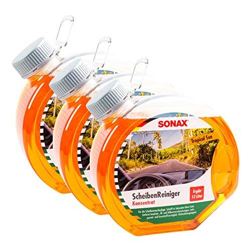 Sonax 3 x 03874000 ScheibenReiniger Konzentrat Tropical Sun 3L