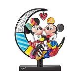 Enesco Disney by BRITTO Mickey und Minnie auf Mond Stein Figur aus Kunstharz, 23,5 cm