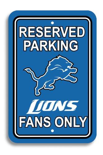 """Fremont Die NFL Baltimore Ravens Kunststoff Parken Schild, Unisex, 90221, Detroit Lions, 12"""" x 18"""""""