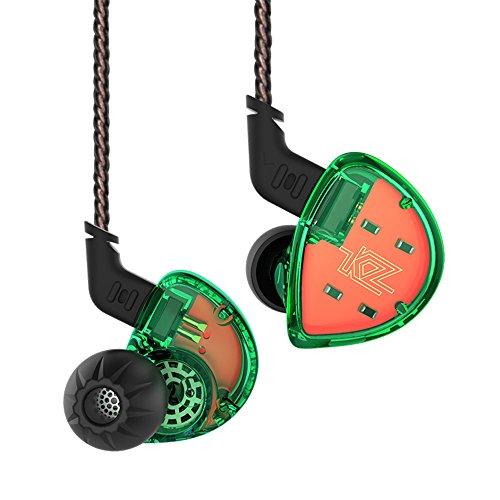 Yinyoo KZ ES4 In Ear KopfhOerer Wired KopfhOerer HiFi OhrhOerer, KZ Headsets In Ear Monitor Hochwertige KopfhOerer Stereo Earbuds Sport KopfhOerer Fuer alle 3,5 mm Audio-GerAete (Gruen kein Mic)