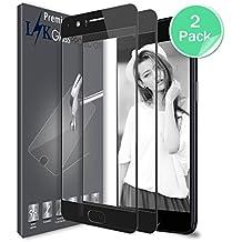 Oneplus 5 Protector de Pantalla, LK[cobertura completa] [2 Pack] Vidrio Templado Screen Protector [Garantía Vitalicia De Sustitución] - Negro