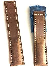 22/20mm Uhrenarmband Wildleder braun Leder Silber Schließe passt auf Tag Heuer