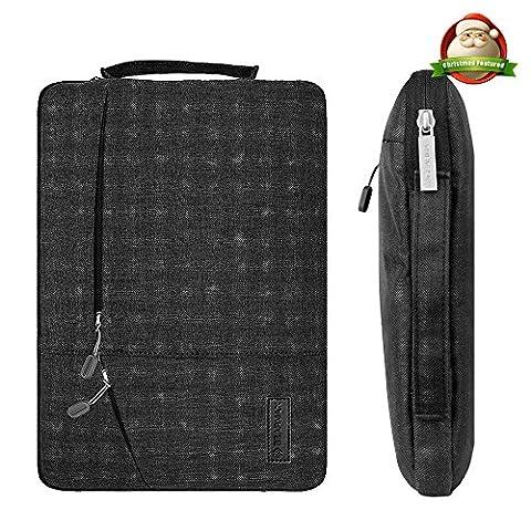 Ultrabook Bag Laptop Sleeve Tasche - Yarrashop 11/11,6 Zoll Schwarz Hülle einfachen Stil Wasserabweisendes Nylongewebe Notebook Sleeve für Macbook Air Pro/ Notebook / Surface / Dell Tasche