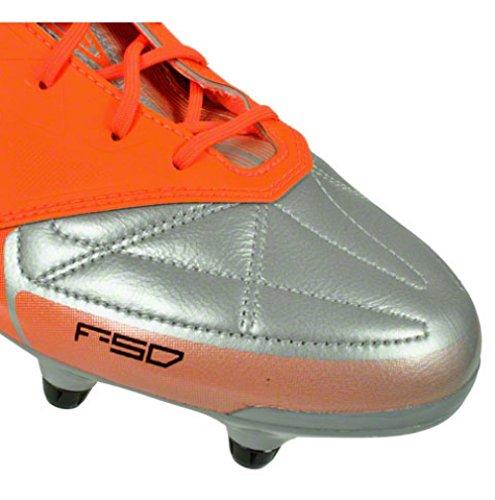 Adidas F50 adizero XTRX SG LEDER Fußballschuhe Herren Stollen Silber Orange Silber