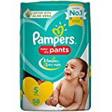 Pampers New Diapers Pants, Small (58 Count)