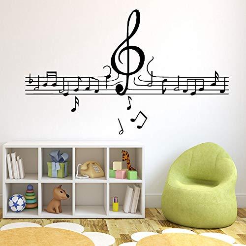 Musiknoten Tapete Dekoration Wandaufkleber Für Kinderzimmer Wanddekoration Wandbilder e2 58x96 cm - E2-schaum