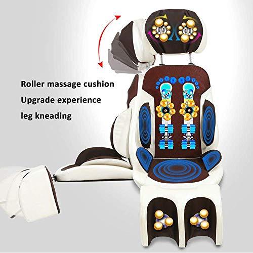 XHLLX Massage-Stuhl-Sitzkissen Mit Scraping Und Heiße Kompresse Funktion Deep Tissue Kneading Relax Full Back Muskeln Lockern Muskelsteifheit Und Müdigkeit Entlasten,A