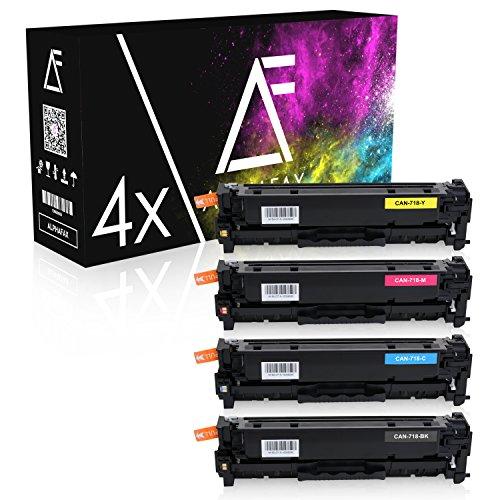 4 Toner für Canon 718-2659 2660 2661 2662 B002 - I-Sensys LBP-7200 7210 7660 7680 C CDN CN Series MF-8330 8340 8350 8360 8380 CDN CDW CD Series (nicht geeignet für I-Sensys MF-724cdw) (Imageclass Kopierer)