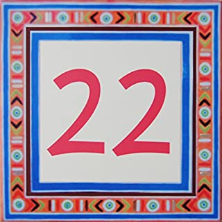 Azul'Decor35 House numbering ceramic - Choose your number and the size of your street sign!