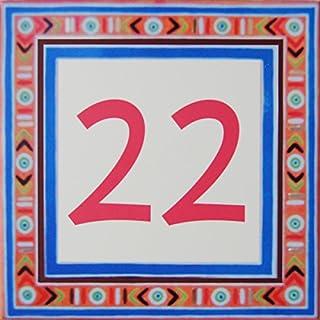 Azul'Decor35 Zahl der Straßen Steingut - Wählen Sie Ihre Nummer und die Größe Ihrer Straßenschild!