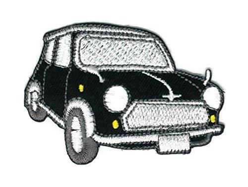 Schwarzer Classic Car Cartoon Hippie Retro Biker Jacke T-Shirt Weste Aufnäher Aufbügler Bestickt Badge Custom