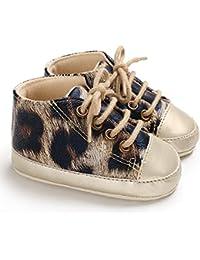 817755a56 Botines Unisex de Niña Niño de Terciopelo Caliente de Estampado de Leopardo  Acogedor Botas de Nieve de Niñas Zapatos de Invierno…