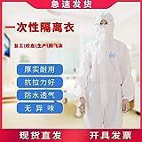 VVBGTS Abito monouso Monouso civili Indumenti di Protezione e alla Polvere Abbigliamento Abiti Non Tessuto Impermeabile Camiciotti protettivi (Color : Disposable Gown, Size : XXXL)