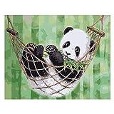 MNS9516 Panda sur Le Hamac Bricolage Peinture par Numéro sans Cadre Décoration Murale 40X50Cm...