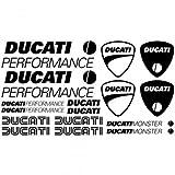 Sticker pegatina adhesivo ,, Kit Adesivo Ducati performance ,, autocollants moto casque Stickers Aufkleber (SCHWARZ)