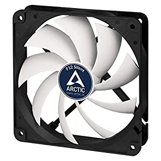 Arctic F12 Silent - Besonders leiser 120 mm Gehäuselüfter | Case Fan mit Standardgehäuse | nahezu lautlos | Push- Oder Pull Konfiguration möglich