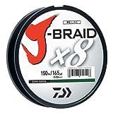 Daiwa j-braid 150m 8Woven rund Braid Line, dunkelgrün, 20 lb