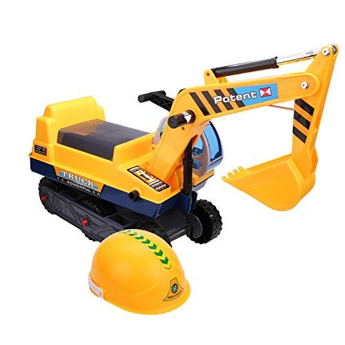 Smibie Sitzbagger Schaufelbagger Spielzeug Bagger zum daraufsizten Caterpillar Sandbagger Kinder Fahrzeug