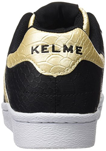 Kelme Damen K-Legend Low-Top Schwarz/Goldfarben