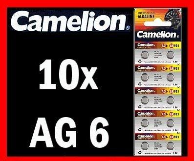 10 x AG6 LR69 KNOPFZELLEN 171 371 GP71A SR920W CAMELION