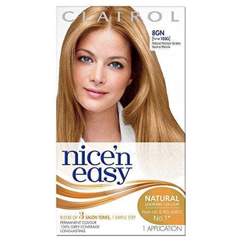 clairol coloration permanente pour cheveux nice n easy 105g blond naturel dor moyen - Coloration Blond Dor