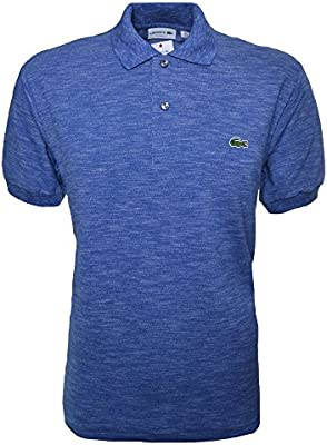 Lacoste Men's Classic Fit Blue Marl Short Sleeve Polo Shirt
